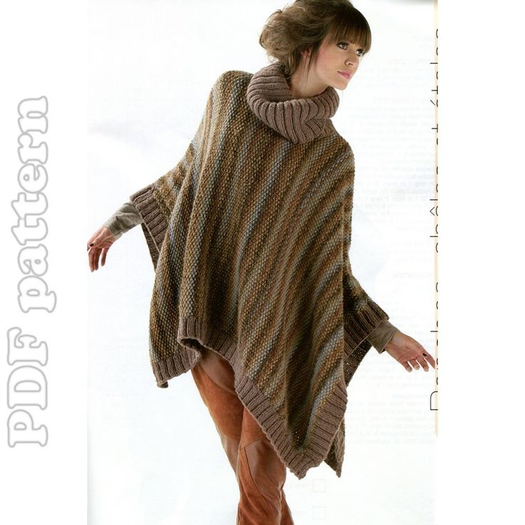 Knitting Poncho Easy : Pattern for crocheted poncho easy crochet patterns