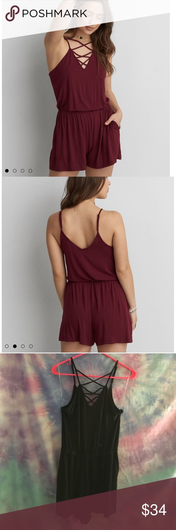 ⚠️Final Price! Black AEO Romper Actual romper is black! Couldn't find a black stock photo! Super soft, and super cute romper with pockets! ⚠️Will be keeping if it doesn't sell quickly!⚠️ American Eagle Outfitters Dresses