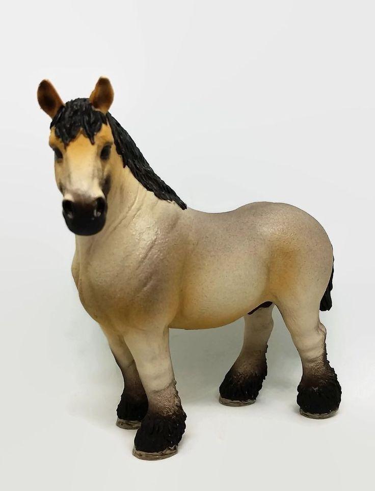 Schleich Ardennes Stallion 13778 Farm Life Male Horse Figure Pretend Play Toy #Schleich