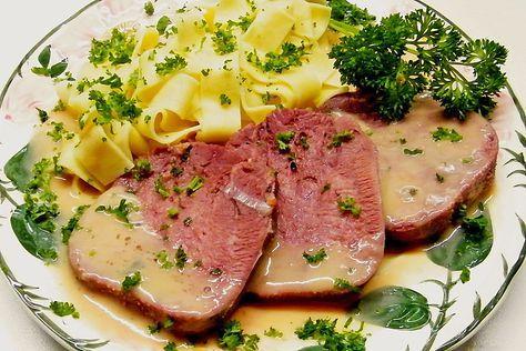 Gekochte Rinderzunge mit Madeirasoße (Rezept mit Bild)   Chefkoch.de