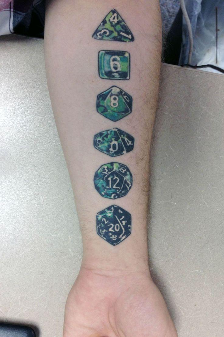 Beautiful dice tattoo #tattoo #dnd #nerd