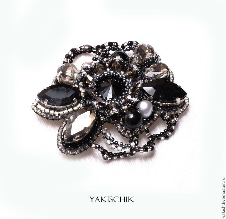 """Купить Брошь """"Classy"""" - черный, брошь, брошка ручной работы, стильное украшение, офисное украшение"""