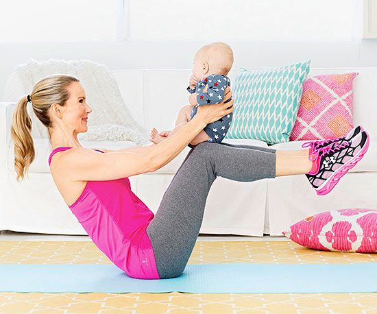 No need to wait for naptime to squeeze in your workout! Give baby a gentle squeeze WHILE you sweat. #fitnesss We love things good for baby and mom