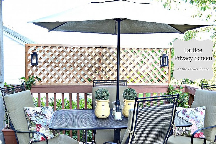 Create privacy on a deck by attaching lattice!