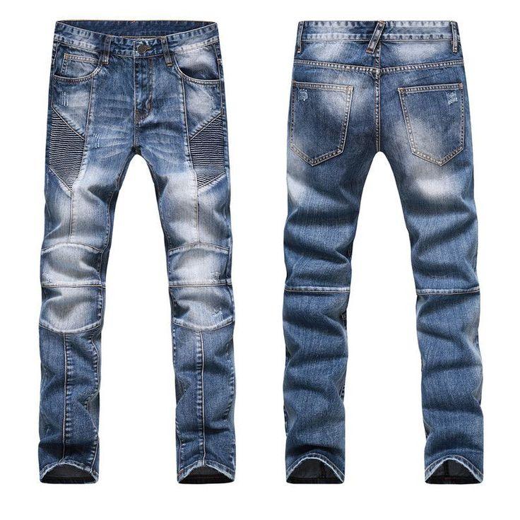 Fashion Men Jeans New Arrival Design Slim Fit Fashion Jeans For Men Good Quality Blue Black Y2031