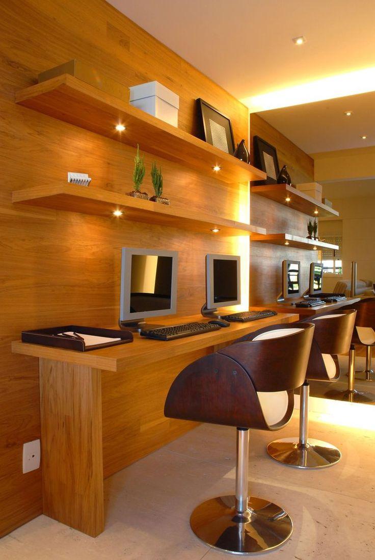 Home office decorado por Marel - Grupo Factory Arquitetura, Design de Interiores, Decoração.