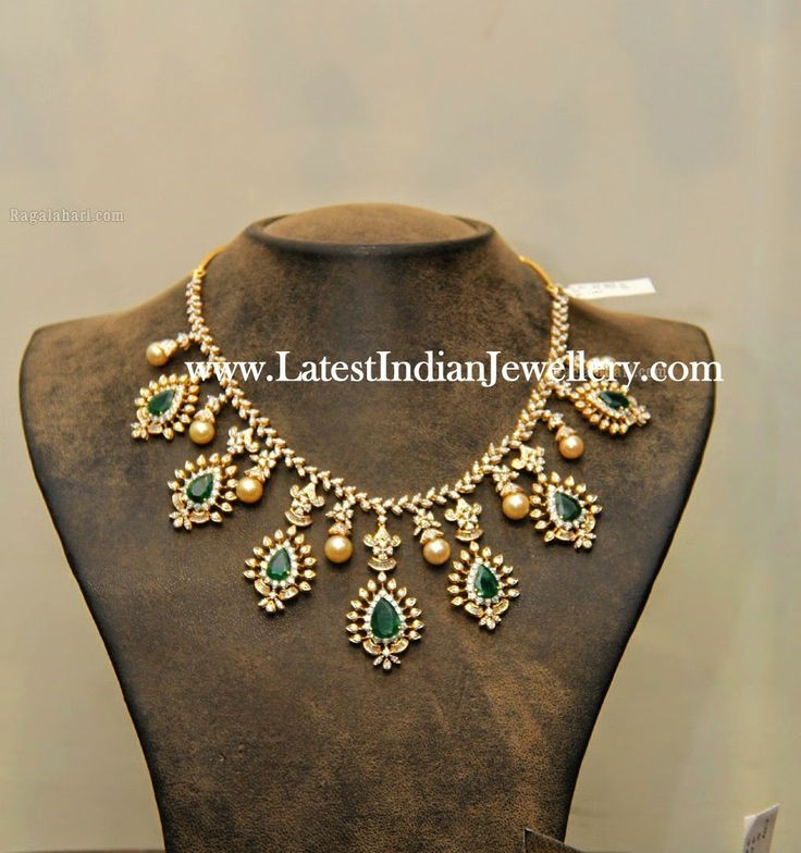 Diamond Emerald Gorgeous Indian Necklace