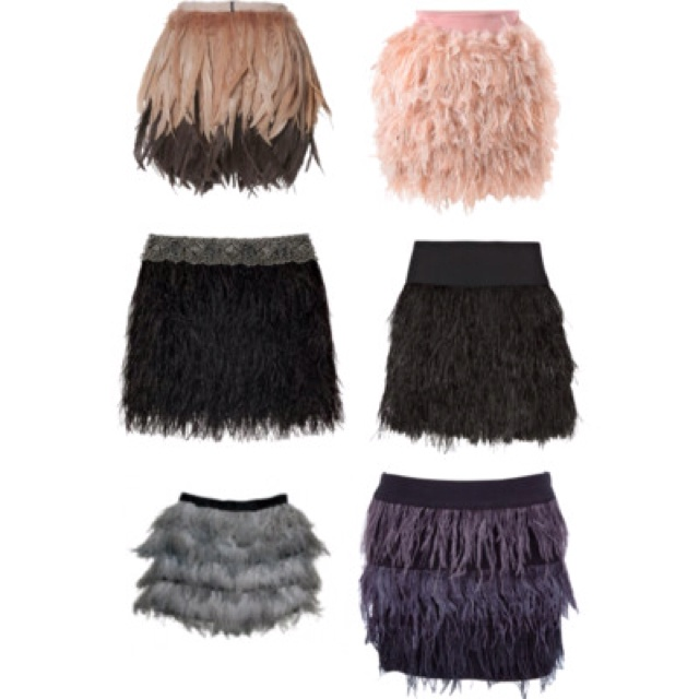 Feather skirts - want!!