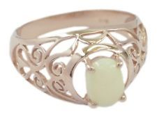 Opal 925 Sterling Silver Rose Gold Ring pleasing Multi wholesale AU gift