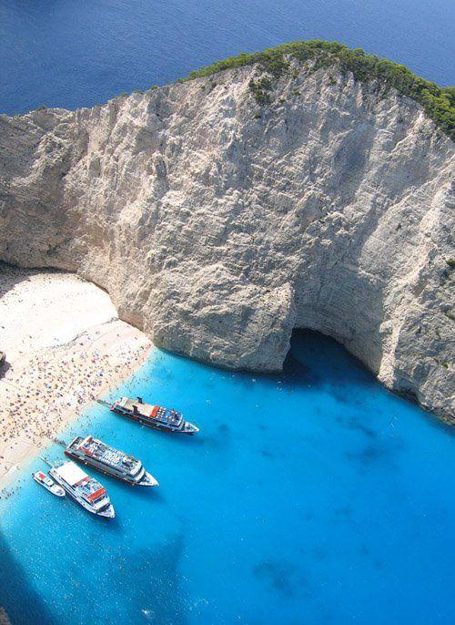 Breathtaking Navagio beach in Zakynthos island ~ Greece