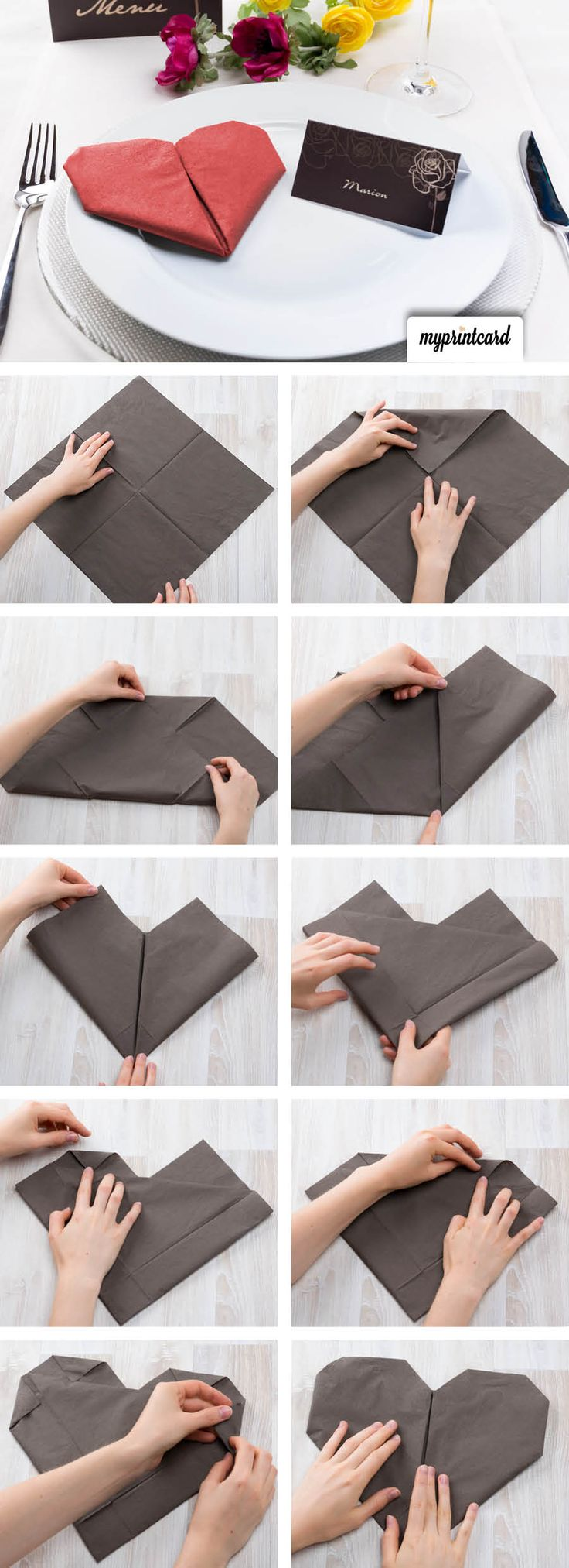 die besten 20 servietten ideen auf pinterest. Black Bedroom Furniture Sets. Home Design Ideas