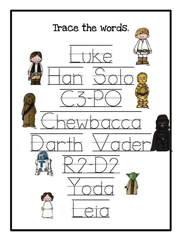 Preschool Printables: Star Wars Multiple Worksheets