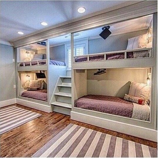 Good for sleepovers amazing rooms pinterest soir e for Bedroom designs with double deck
