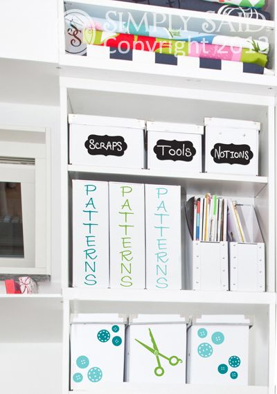 Organize your sewing room!