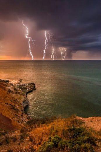 Lightning Storm over the bay.