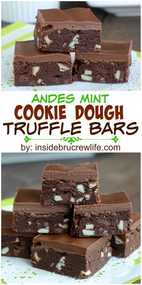 These easy chocolate no bake truffles are made with Andes Mints and aerfect for holiday cookie trays.