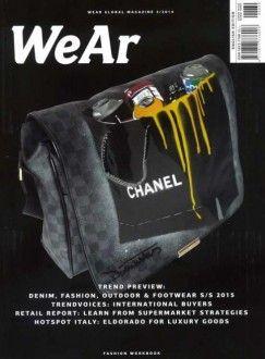 WeAr è la rivista che coniuga arte, moda e design. Rivela le collezioni più interessanti, i negozi e le novità del mercato mondiale nel campo della moda, scarpe e accessori. Troverete tendenze, presentazioni fieristiche delle principali città del mondo, notizie, ricerche, interviste ed e preziosi consigli. Nel numero 39, tra focus principali, i trends della primavera–estate 2015. Ecco il link per acquistare la rivista nel nostro Shop Online >> http://www.medesrl.it/wear.html
