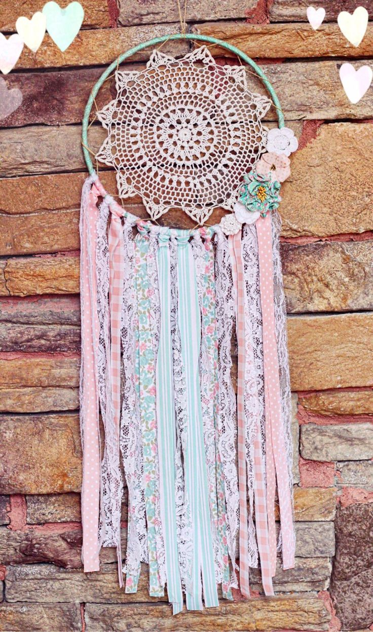 A personal favorite from my Etsy shop https://www.etsy.com/listing/250984784/bohemian-doily-dreamcatcher-in-queen-of
