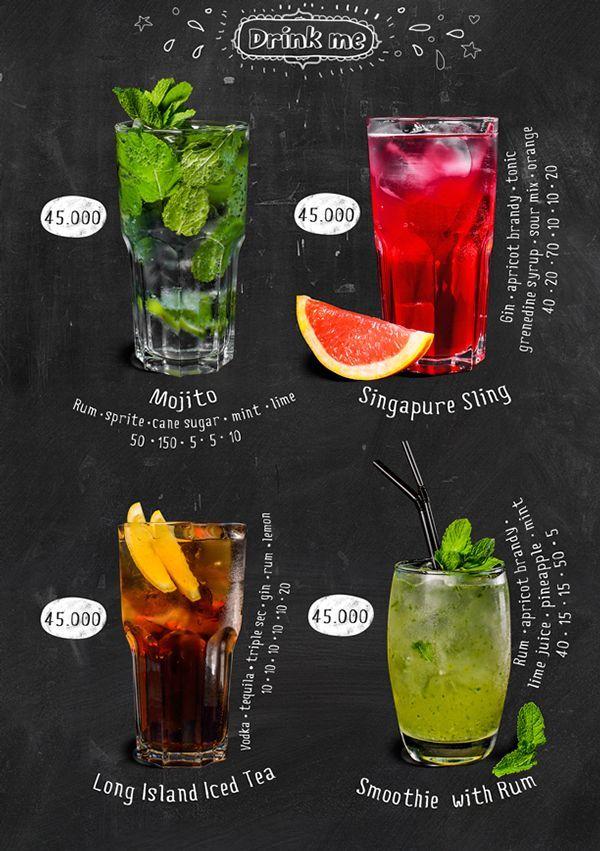 95 best menu images on Pinterest Food menu template, Menu layout - drinks menu template