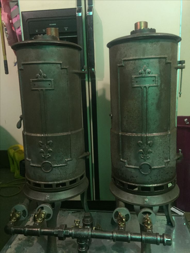 Antique hotstream twin water heaters found by eds