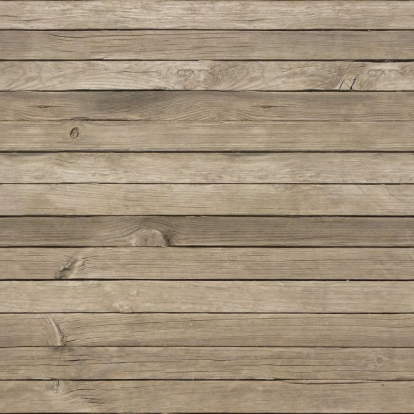 New smooth light brown planks installed evenly in horizontal fashion.