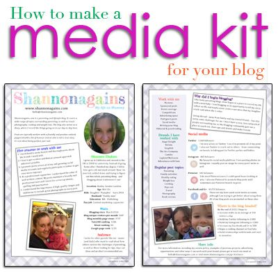 How to make a media kit for your blog