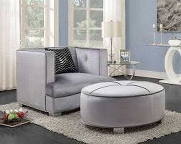 Contemporary Silver & Chrome Chair – Coaster 505883   – Products