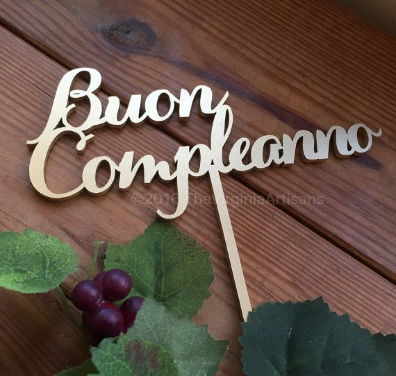 Buon+Compleanno+Cake+Topper.+Happy+Birthday+by+TheVirginiaArtisans