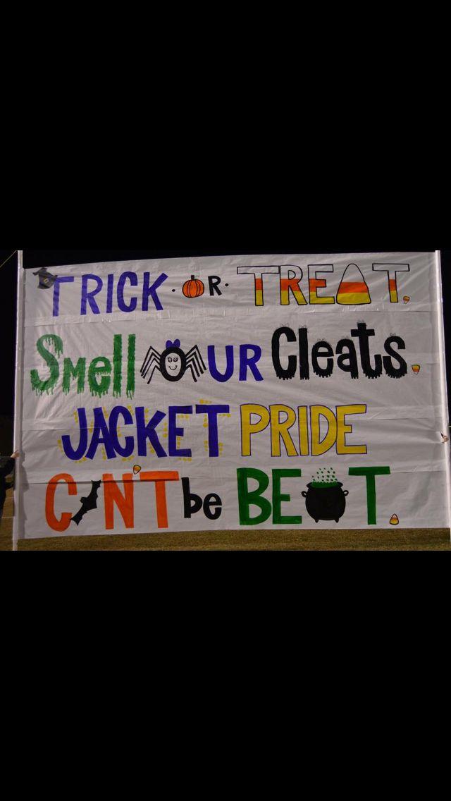 Cheerleading Run-Through Sign - Halloween. WCHS Cheerleaders                                                                                                                                                     More