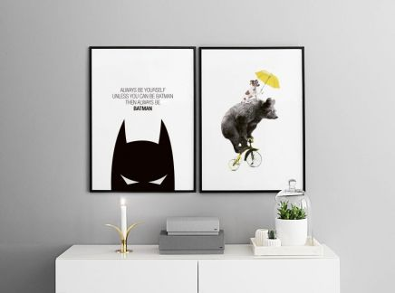 Decorate your children's room with some cute prints on the walls. For more inspiration, prints and frames, visit www.desenio.co.uk