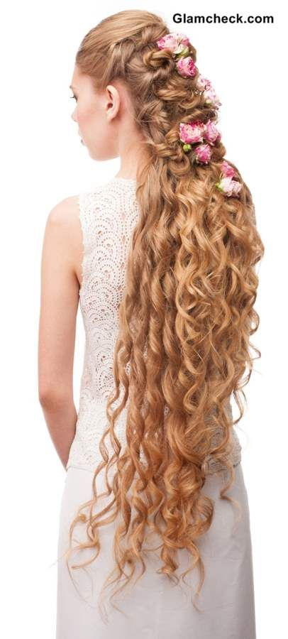 How To Style Very Long Curly Hair