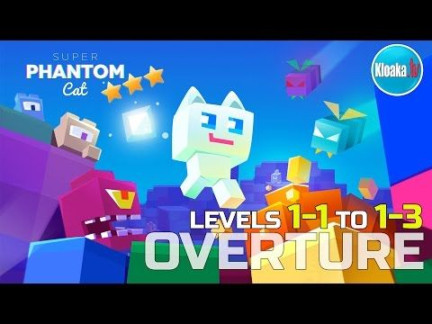 Super Phantom Cat - OVERTURE - Levels 1-1 to 1-3 Walkthrough (3 Stars)