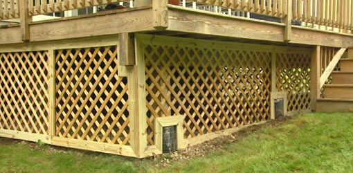 How To Trim Lattice Around A Deck Foundation Building A