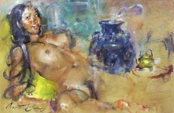 Balinese women by Antonio Blanco