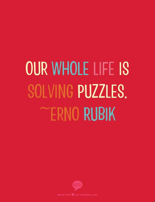 How is Your Life Like a Puzzle?