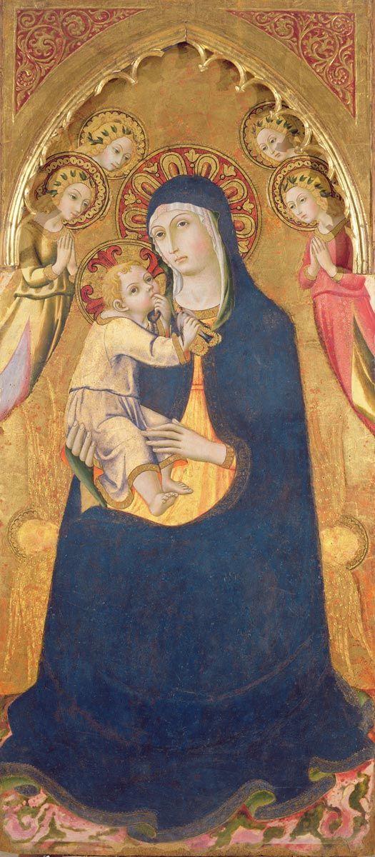 Sano di Pietro - Madonna e Bambino - tempera e foglia d'oro su tavola - collezione privata