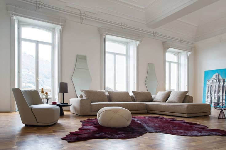Gary Sofa FABRIC AND LEATHER COVERS. Rigorous design and attention to the details characterize the modular sofa GARY. The model has a seat which expresses the maximum comfort in addition to a package worthy of a high fashion outfit.Fabric and leather covers. #sofa #design #controlucehome #furniture #madeinitaly