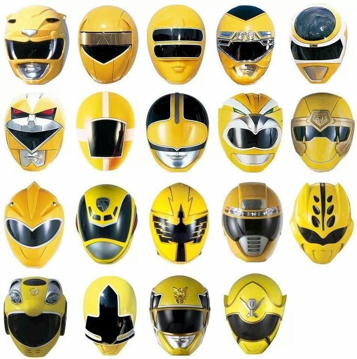 Yellow Ranger Helmets - MMRP onwards