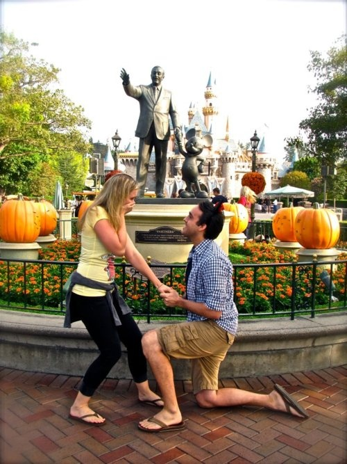 My dream proposal would be at Disney. <3