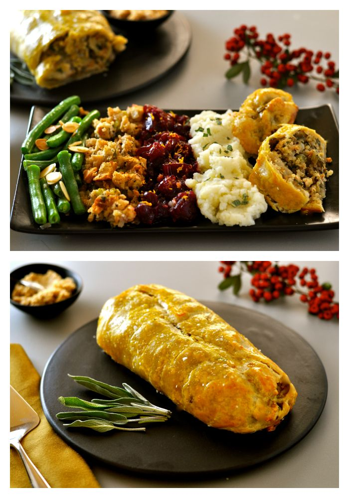 Vegan Roast Wellington with Lentils, Quinoa, Chestnuts & Mushrooms