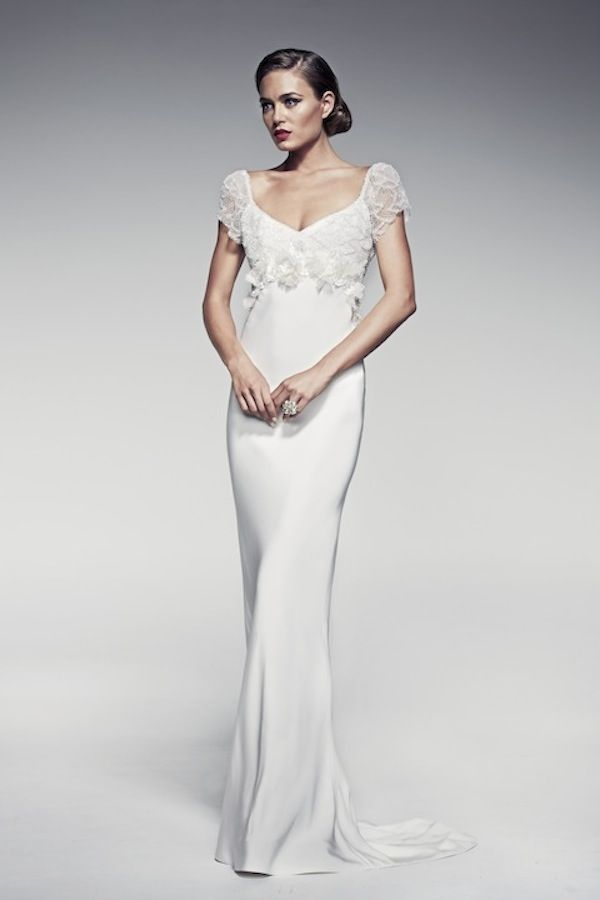 Simple Pallas Couture Wedding Dresses Fleur Blanche Collection