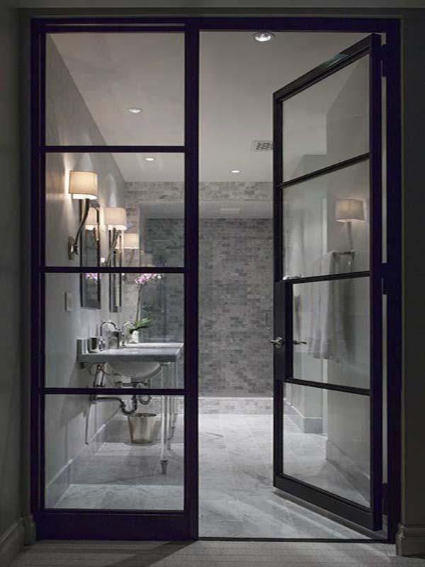 Steel French Door 08 1000 In 2020 Home French Doors Interior Bathroom Design
