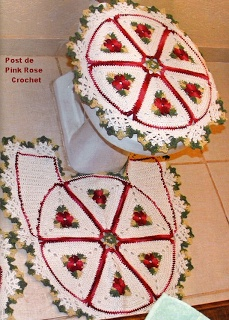 PINK ROSE CROCHET /: Tapete Barbante e Flores