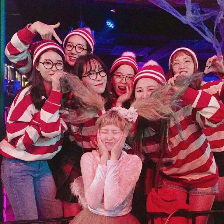 #ulzzang #girl #korea #friend #tumblr #goals # Squad