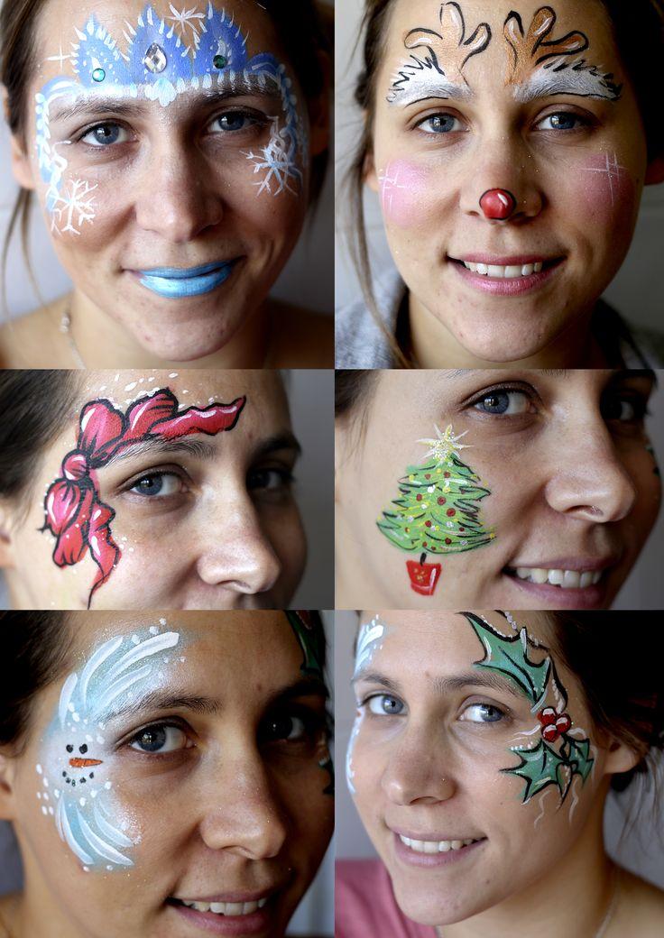 Christmas facepaint Navidad maquillaje para los niños Facepaint Barcelona