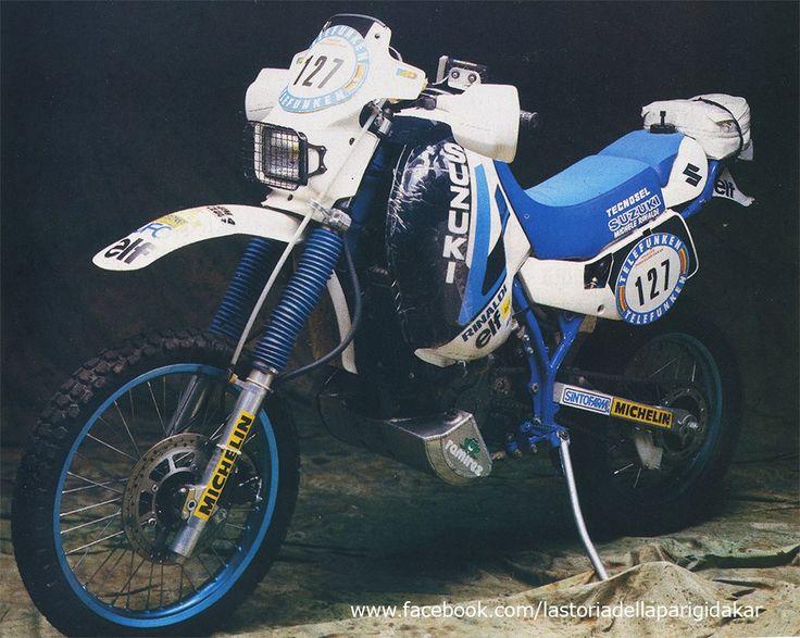 Suzuki DR 600 di Michele Rinaldi Dakar 1987.