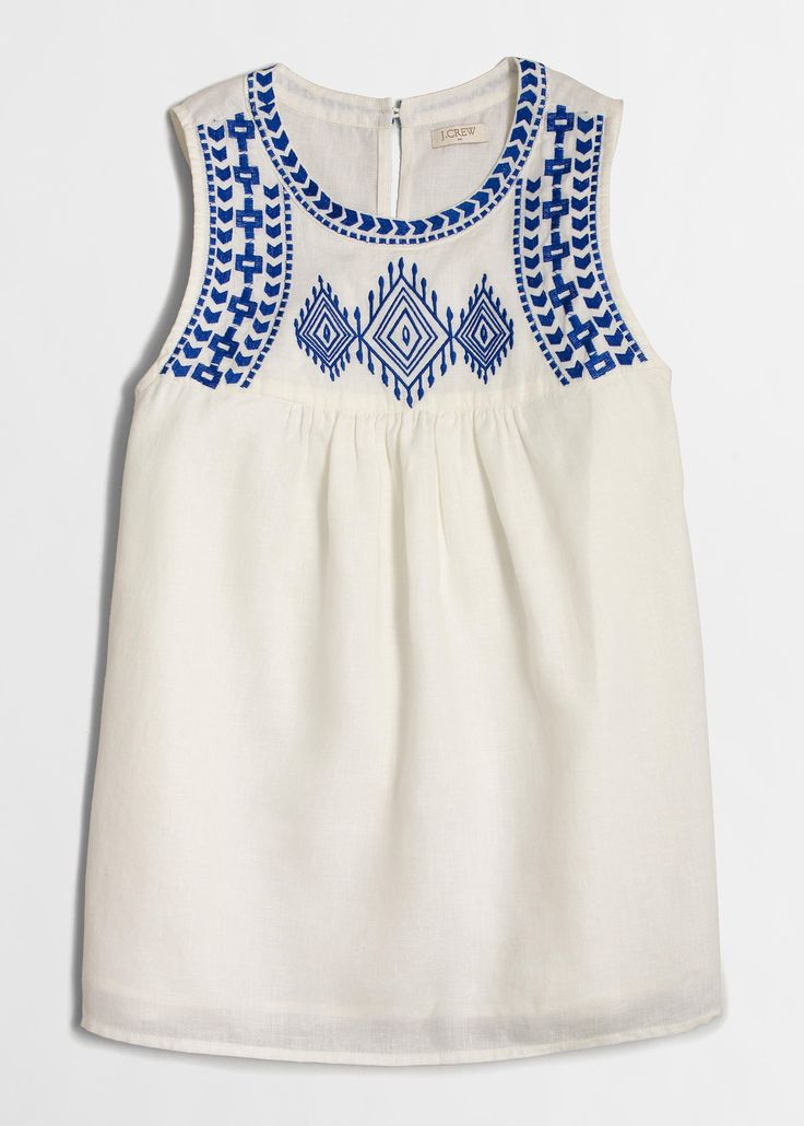 j.crew factory embroidered tank top