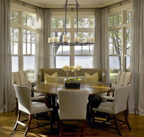 17 best ideas about bay window blinds on pinterest bay for Bay window breakfast nook