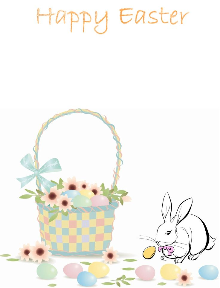 Easter Bunny Stationery | Step 1 - Easter Bunny Letter Stationery