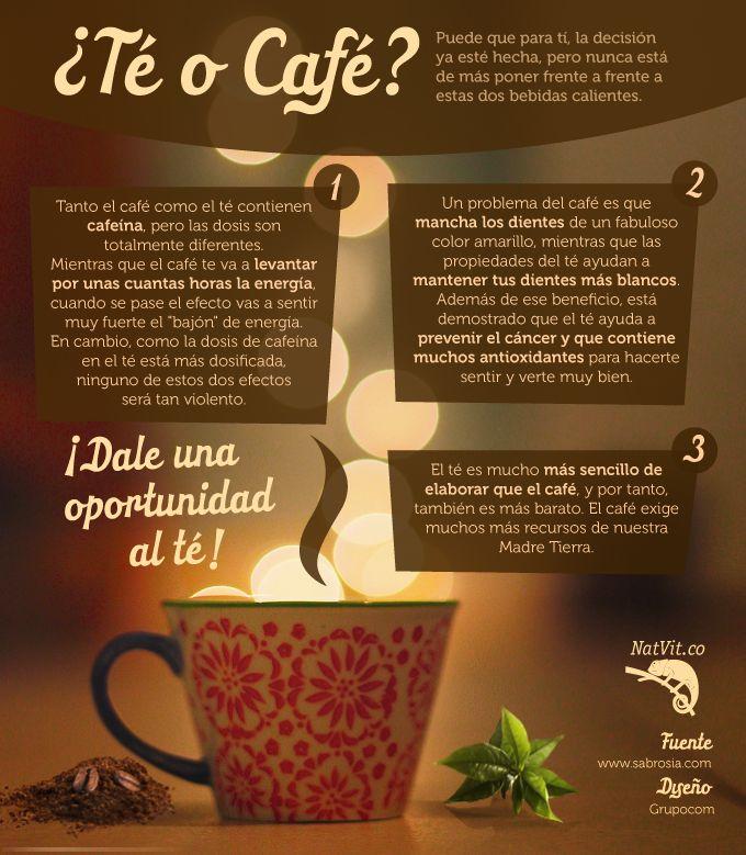 Sabemos que el café es una de las bebidas más tomadas en el mundo, pero te invitamos a que le des una oportunidad al té conociendo sus ventajas frente al café. Conoce sus beneficios para elegir en qué momento inclinarte por uno u otro. Caer en el lado oscuro del té podría ser una buena opción. #nutricion #verduras #frutas #alimentos #salud #beneficios #tips #saludable